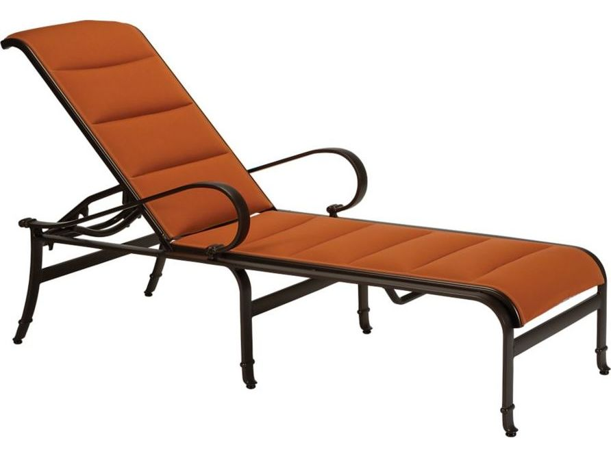 Tropitone torino padded sling aluminum chaise lounge for Chaise longue torino