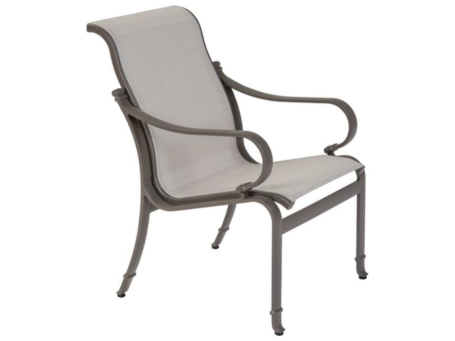 Tropitone torino sling aluminum dining chair tp150337 for Chaise longue torino