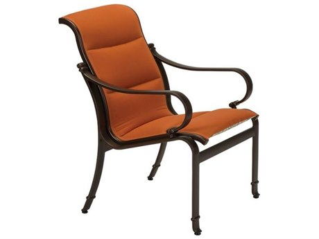 Tropitone Torino Padded Sling Aluminum Dining Arm Chair
