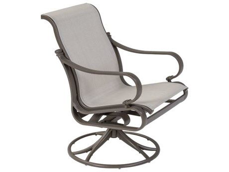 Tropitone Torino Sling Aluminum Swivel Rocker Dining Arm Chair