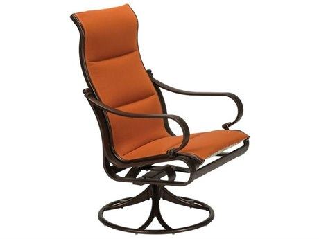 Tropitone Torino Padded Sling Aluminum High Back Swivel Rocker