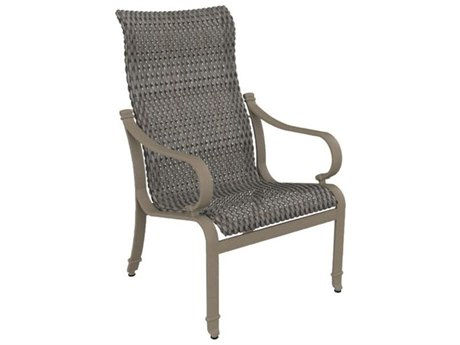Tropitone Torino Woven Aluminum High Back Dining Arm Chair