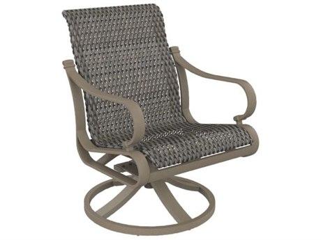 Tropitone Torino Woven Aluminum Swivel Rocker Dining Arm Chair