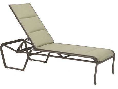 Tropitone Spinnaker Padded Sling Aluminum Chaise Lounge PatioLiving
