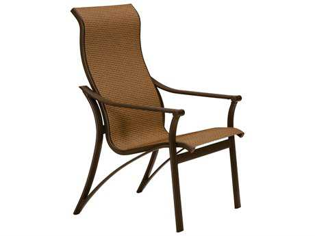 Tropitone Corsica Sling Aluminum High Back Dining Arm Chair