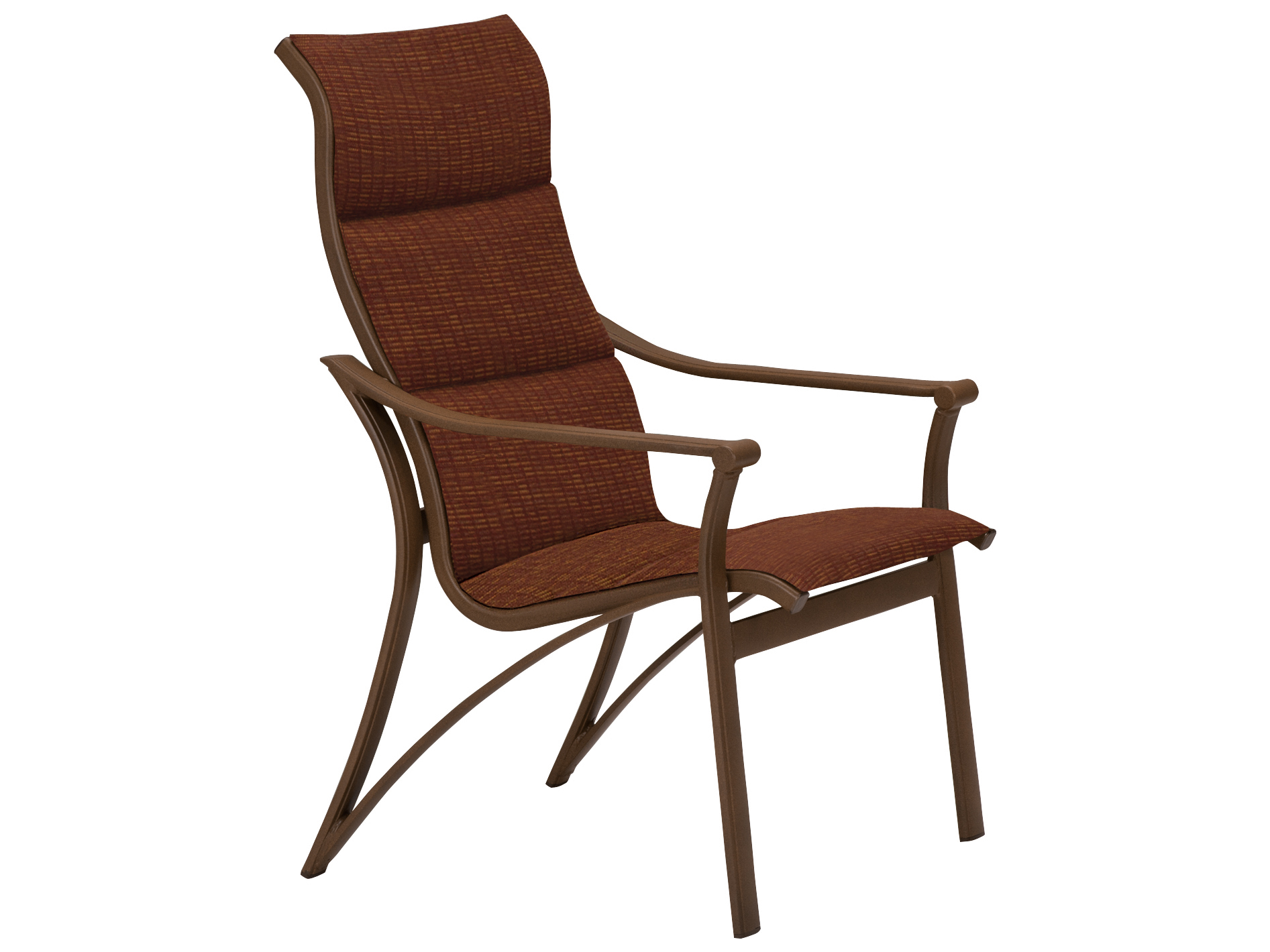 Tropitone Corsica Padded Sling Aluminum Arm Dining Chair