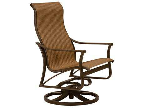 Tropitone Corsica Sling Aluminum High Back Swivel Action Lounge Chair