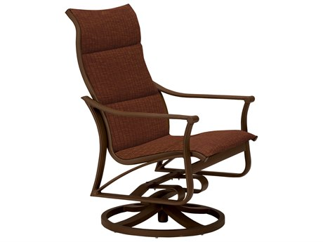 Tropitone Corsica Padded Sling Aluminum Swivel Action Lounger Chair