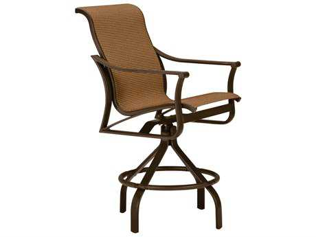 Tropitone Corsica Sling Aluminum Swivel Counter Stool