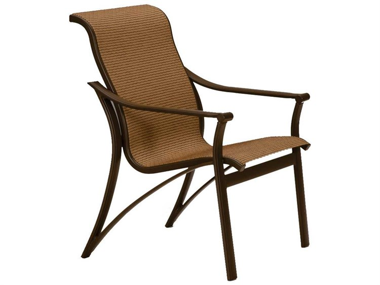 Tropitone Corsica Sling Aluminum Dining Arm Chair PatioLiving