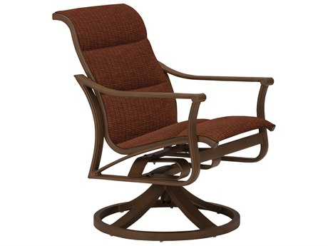 Tropitone Corsica Padded Sling Aluminum Swivel Rocker Lounge Chair