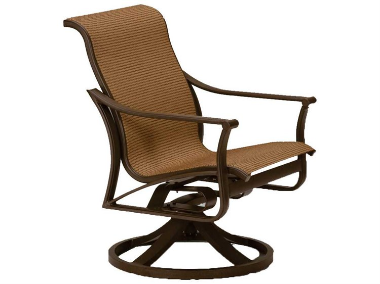 Tropitone Corsica Sling Aluminum Swivel Rocker Lounge Chair