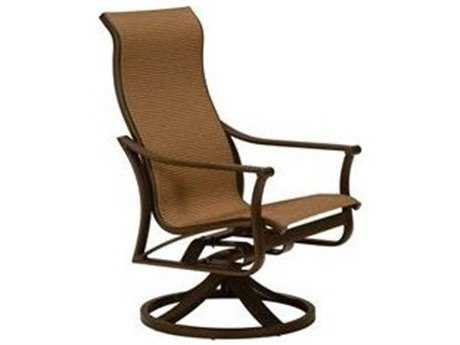 Tropitone Corsica Sling Aluminum High Back Swivel Rocker Lounge Chair