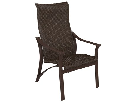 Tropitone Corsica Woven Aluminum High Back Dining Arm Chair