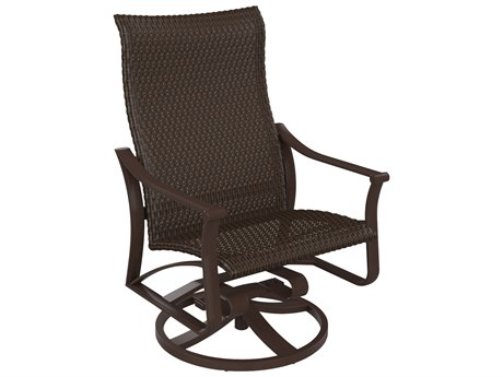 Tropitone Corsica Woven Aluminum Swivel Rocker Lounge Chair