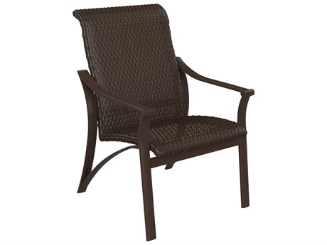 Tropitone Corsica Woven Aluminum Dining Arm Chair