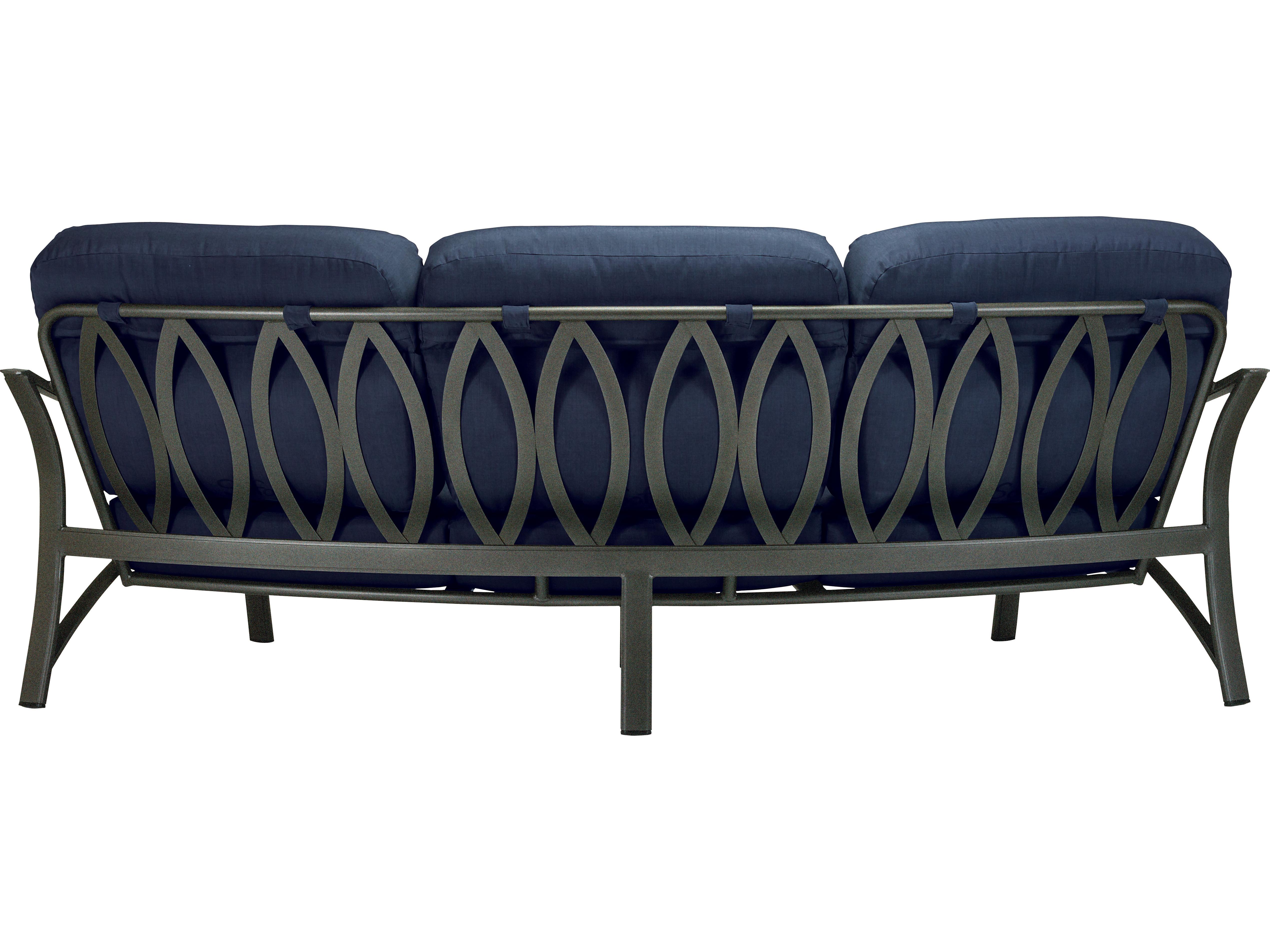 ... Tropitone Corsica Cushion Aluminum Crescent Sofa ...