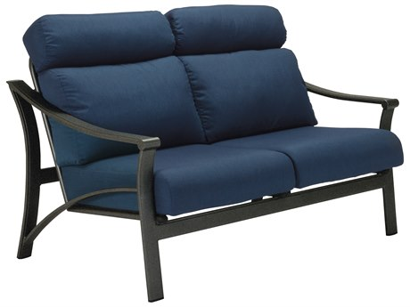Tropitone Corsica Cushion Aluminum Loveseat PatioLiving