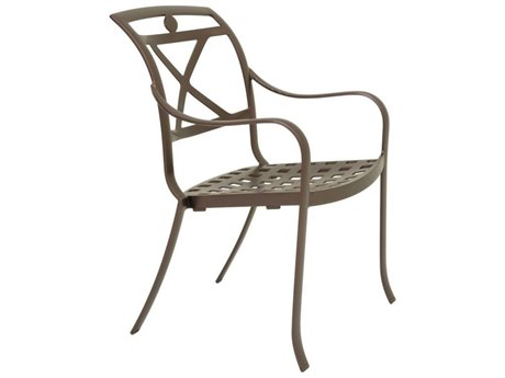Tropitone Palladian X Back Aluminum Dining Chair with Cast Seat