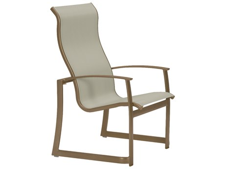 Tropitone Mainsail Sling Aluminum High Back Dining Arm Chair