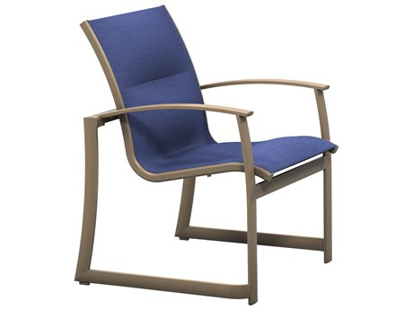 Tropitone Mainsail Padded Sling Aluminum Stackable Dining Chair