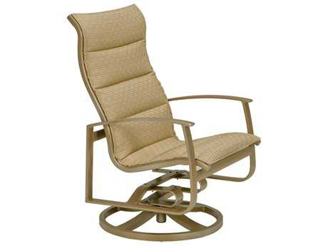 Tropitone Mainsail Padded Sling Aluminum Swivel Rocker Lounge Chair