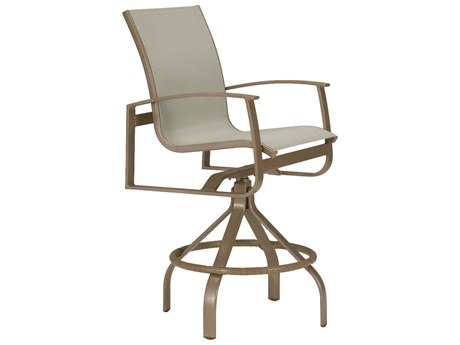 Tropitone Mainsail Sling Aluminum Swivel Bar Stool