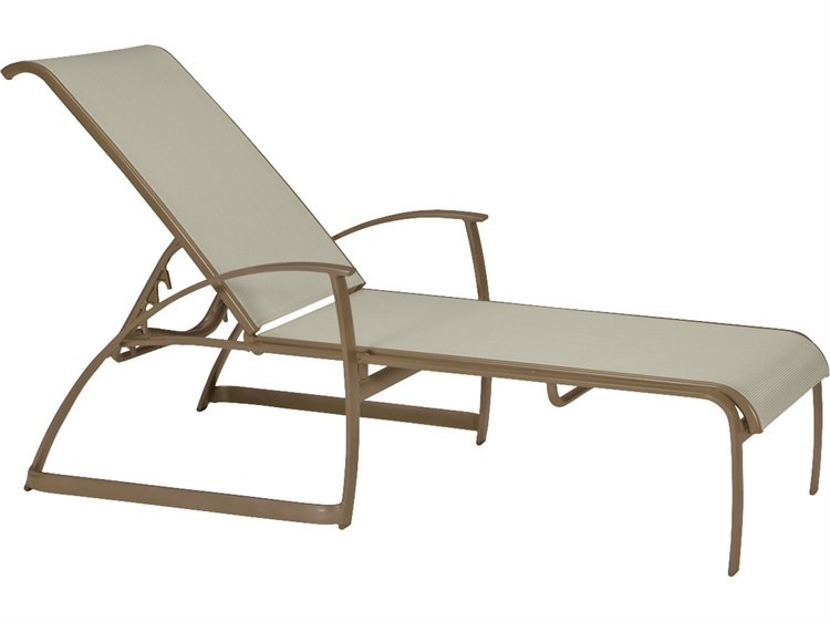 Tropitone Mainsail Sling Aluminum Stackable Chaise Lounge