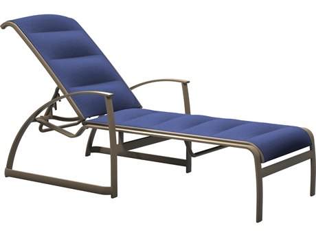 Tropitone Mainsail Padded Sling Aluminum Stackable Chaise Lounge