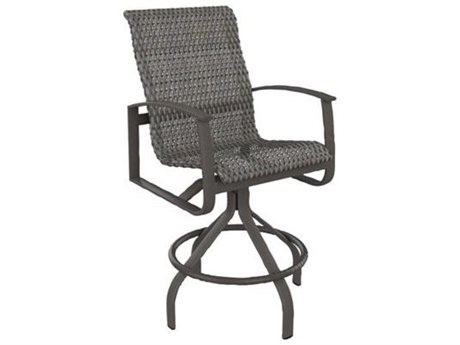 Tropitone Mainsail Bison Weave Aluminum Swivel Bar Stool 30