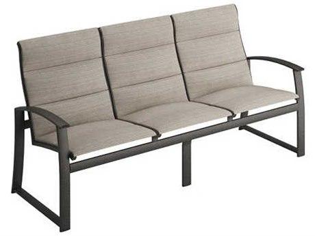 Tropitone Mainsail Padded Sling Aluminum Sofa