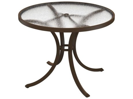 Tropitone Cast Aluminum 36 Round Dining Table with Umbrella Hole TP1836AU