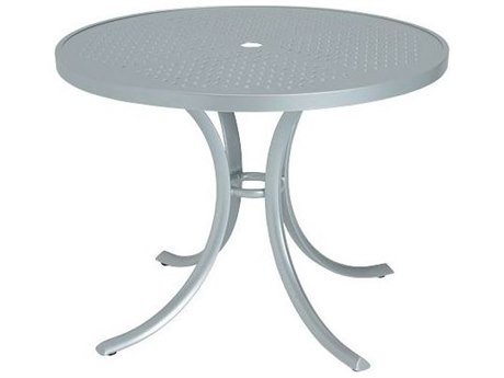 Tropitone Boulevard Aluminum 36 Round Dining Table with Umbrella Hole TP1836SBU