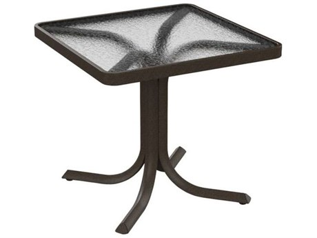 Tropitone Cast Aluminum 20 Round Acrylic Stacking Tea Table