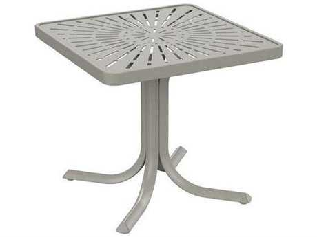 Tropitone Patterned Aluminum La'stratta 24 Square End Table