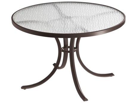Acrylic Cast Aluminum 42'' Wide Round Dining Table