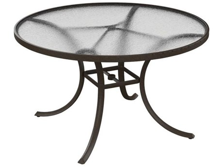 Tropitone Cast Aluminum 48 Round Acrylic Dining Table