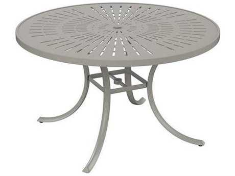 Tropitone Patterned Aluminum – La'stratta 48 Round Dining Umbrella Table