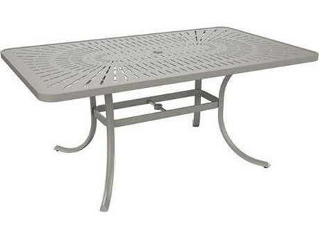 Tropitone Patterned Aluminum La'stratta 84 x 42 Oval Umbrella Table