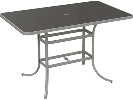 Tropitone Hpl Raduno 66 x 40 Rectangular Bar Umbrella Table
