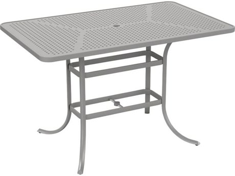 Tropitone Patterned Aluminum – Boulevard 66 x 40 Rectangular Bar Umbrella Table