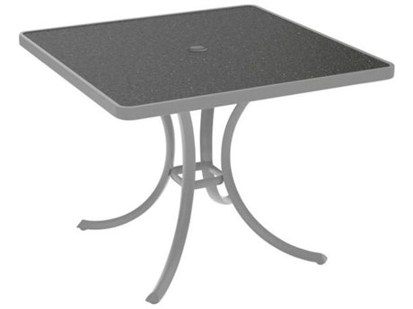 Tropitone Hpl Raduno Aluminum 36 Square Dining Table with Umbrella Hole