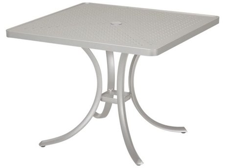 Tropitone Boulevard Aluminum 36 Square Dining Table with Umbrella Hole TP1876SBU