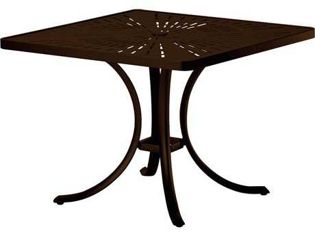Tropitone La Stratta Aluminum 36 Square Dining Table with Umbrella Hole