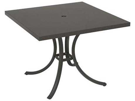 Tropitone Ion Aluminum 36 Square Dining Umbrella Table