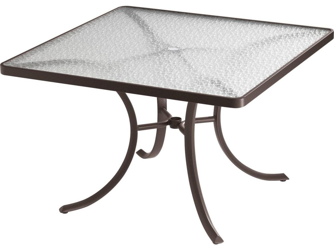 Tropitone Aluminum 42 Square Dining Table With Umbrella