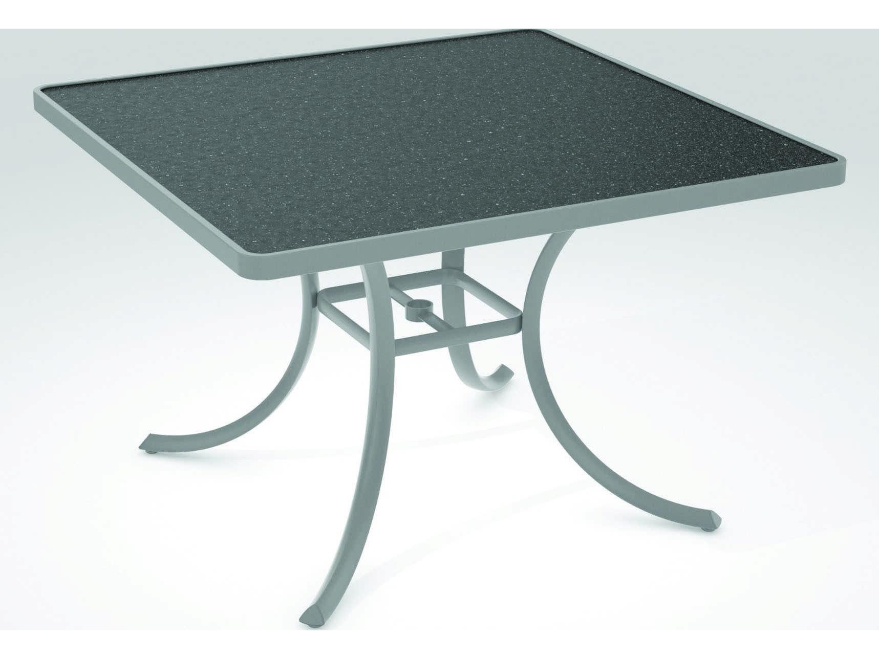 Tropitone Hpl Raduno Aluminum 42 Sqaure Dining Table Tp1877h