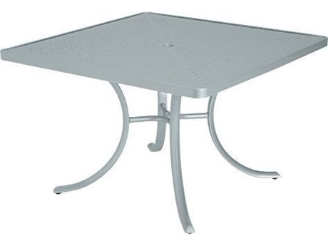 Tropitone Boulevard Aluminum 42 Square Dining Table with Umbrella Hole TP1877SBU