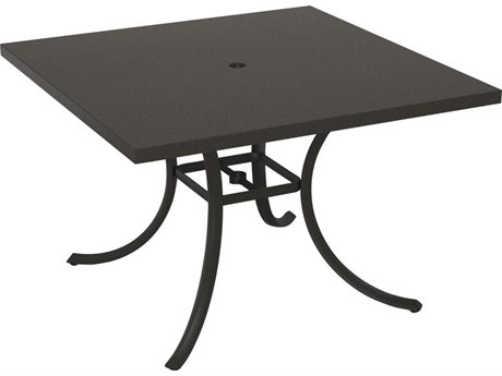 Tropitone Ion Aluminum 42 Square Dining Umbrella Table