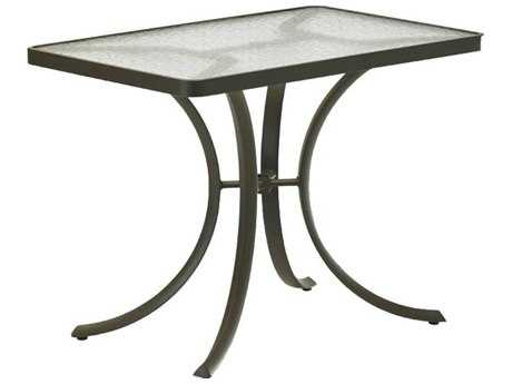 Tropitone Aluminum 36 x 24 Rectangular Dining Table with Umbrella Hole